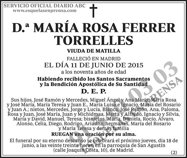 María Rosa Ferrer Torrelles